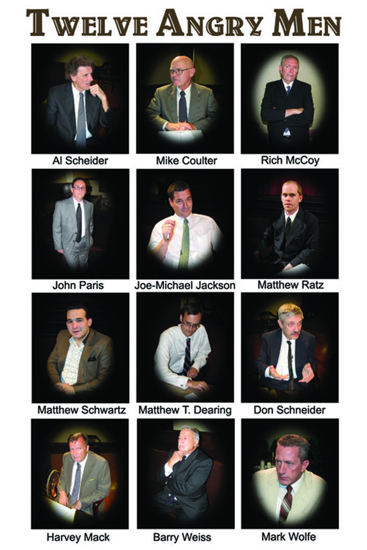"""twelve angry men Remaining performances of """"twelve angry men"""" are at 7:30 pm on friday and  saturday, june 15 and 16, and at 2 pm sunday, june 17."""
