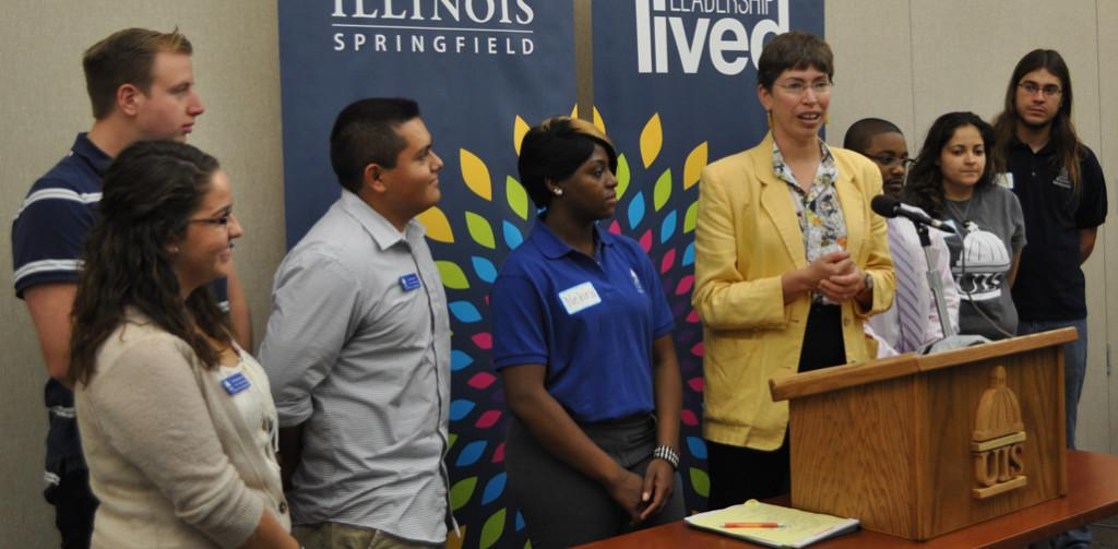 Lt. Gov. Simon visits UIS on College Affordability Tour