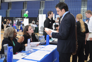 Students seek employment at Career Fair